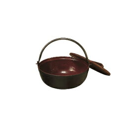 【まとめ買い10個セット品】中部コーポレーション トキワ 鉄 やまが鍋 401(茶ホーロー) 18cm(段無・杓子付)【 いろり鍋 いろり 囲炉裏鍋 やまと鍋 やまが鍋 田舎鍋 味噌汁 】
