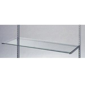 ガラス棚セットW90cm インハングタイプ ガラス8mm厚 D30cm 【 システム什器 システムオプション スリット式システムオプションW90cm ガラス棚セットW90cm インハングタイプ ガラス8mm厚 】