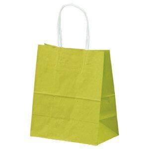 【まとめ買い10個セット品】筋入りカラー 無地 ライトグリーン 21×12×25 300枚【 店舗什器 小物 ディスプレー ギフト ラッピング 包装紙 袋 消耗品 店舗備品 】