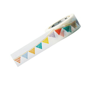 【まとめ買い10個セット品】マスキングテープ(10m巻) 20mm幅 フラッグ【 店舗什器 小物 ディスプレー 文具 消耗品 店舗備品 】