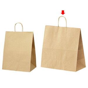丸ひも ローコストタイプ 茶無地 45×22×45.5 200枚【 店舗備品 包装紙 ラッピング 袋 ディスプレー店舗 】