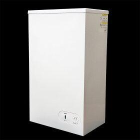 業務用冷凍庫やフリーザーとも言います。食品ストッカーとして冷凍食品の保存や熱中症予防対策などに。たっぷり入る容量です。釣エサ保存にも