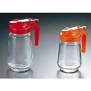 【まとめ買い10個セット品】ガラス製 焼肉タレ入 350cc 赤【 調味料入れ 容器 ドレッシングボトル 】 【メイチョー】