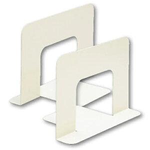 【まとめ買い10個セット品】 ブックエンド スチール製 ファイル用 CR-BE35-BE ベージュ 【メイチョー】