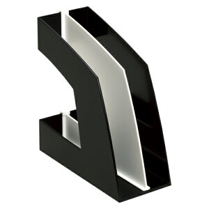【まとめ買い10個セット品】 ファイルボックス A4判タテ型(収納幅100mm) FB-708-D ブラック 【メイチョー】