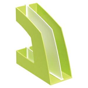 【まとめ買い10個セット品】 ファイルボックス A4判タテ型(収納幅100mm) FB-708-G グリーン 【メイチョー】