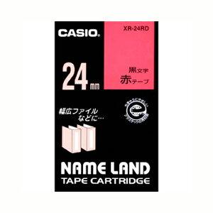 【まとめ買い10個セット品】 ネームランド用テープカートリッジ スタンダードテープ 8m/6m XR-24RD 赤 黒文字 【メイチョー】