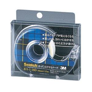 【まとめ買い10個セット品】 スコッチ[R] はってはがせるテープ (小巻)テープカッター付き 巻芯径25mm 811-1-18D 【メイチョー】