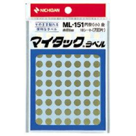【まとめ買い10個セット品】 マイタック[TM]カラーラベル 一般用/リムカ[TM] 一般用(単色) 8mm径 ML-1519 金 【メイチョー】