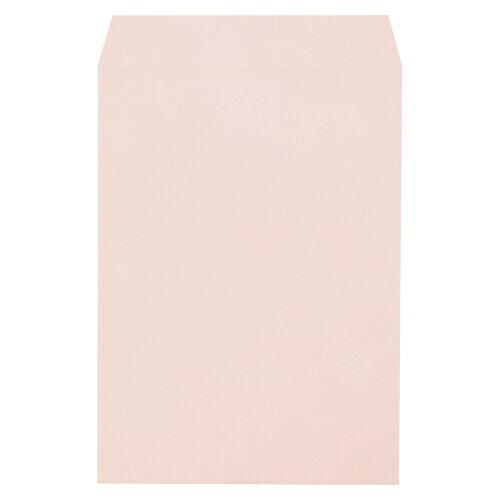【まとめ買い10個セット品】透けないカラー封筒 角2・100枚入 31495 ピンク 100枚 寿堂【開業プロ】