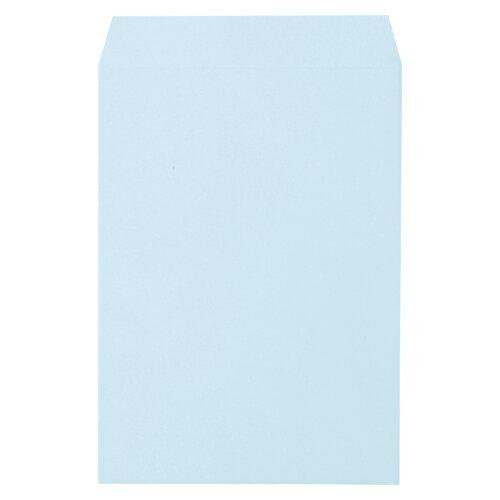 【まとめ買い10個セット品】透けないカラー封筒 角2・100枚入 31498 ブルー 100枚 寿堂【開業プロ】