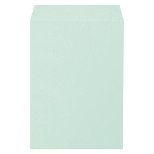 【まとめ買い10個セット品】透けないカラー封筒 角2・100枚入 31497 グリーン 100枚 寿堂【開業プロ】