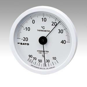 【まとめ買い10個セット品】温湿度計 ホワイティ 1022-00 1個 佐藤計量器【 生活用品 家電 セレモニー アメニティ用品 温湿度計 】【開業プロ】