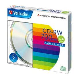 三菱ケミカルメディア PC DATA用 CD-RW 5枚入 SW80QU5V1 【メイチョー】