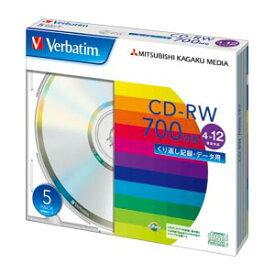 三菱ケミカルメディア PC DATA用 CD-RW 5枚入 SW80EU5V1 【メイチョー】