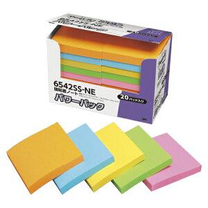 ポスト・イット[R] 強粘着製品 単品/5個入/エコノパック[TM] 製品シリーズ/パワーパック パワーパック 6542SS-NE 混色5色(オレンジ、エレクトリックブルー、ウルトライエロー、ライム、ローズ)