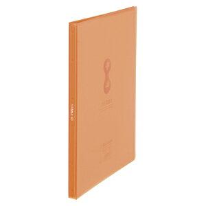 クリアーファイルヒクタス±[R](透明) スティック・タイプ A4判タテ型(40ポケット) 7181TW オレンジ 【メイチョー】