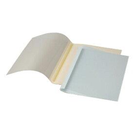 GBCサーマバインド 糊付け製本機 表紙カバー10枚入(表紙:透明クリアシート、裏表紙:紙) TCB12A4R ブルー 【メイチョー】