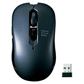 サンワサプライ ブルーLEDマウス ワイヤレス 5ボタン MA-WBL113GM ガンメタル 【メイチョー】