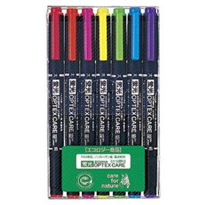 蛍光オプテックスケア セット WKCR1-7C 5色セット+赤、紫 【メイチョー】