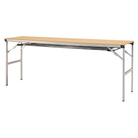 アイリスチトセ 折りたたみテーブル LOT 軽量メラミン天板 棚付 LOT-1845ET-NA ナチュラル 【メイチョー】