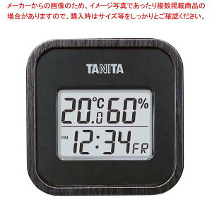 タニタ デジタル温湿度計 TT-571-BK ブラック 【メイチョー】温度計