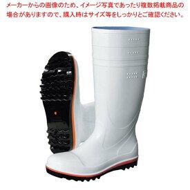 弘進 食品用安全長靴 ハイブリーダーガードHB500 白 24.5cm 【メイチョー】