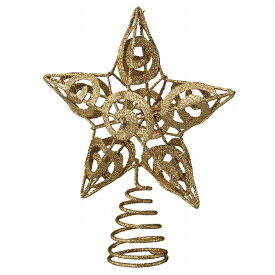 トップスター ゴールド 1個【クリスマス クリスマスツリー ツリー 店舗装飾 飾り ディスプレイ christmas xmas】【メイチョー】