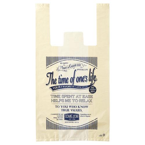 アメリカンヴィンテージ レジ袋 24×45(31)×横マチ14 100枚【店舗備品 包装紙 ラッピング 袋 ディスプレー店舗】