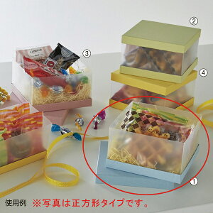 サイドクリアボックス 長方形 ブルー 20個 19.8X7.8X8cm 【メイチョー】