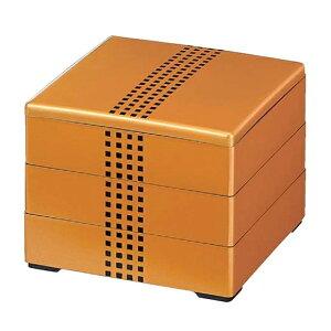 【 お重 重箱 おせち 正月 】6.5寸和洋風重箱 彩重 金ドット 3段 【メイチョー】