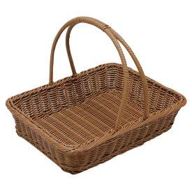 角型ピクニックバスケット 小 ブラウンPB-452-BR 【メイチョー】