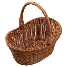 小判型 ピクニックバスケット 中 ブラウンPB-461-BR 【メイチョー】