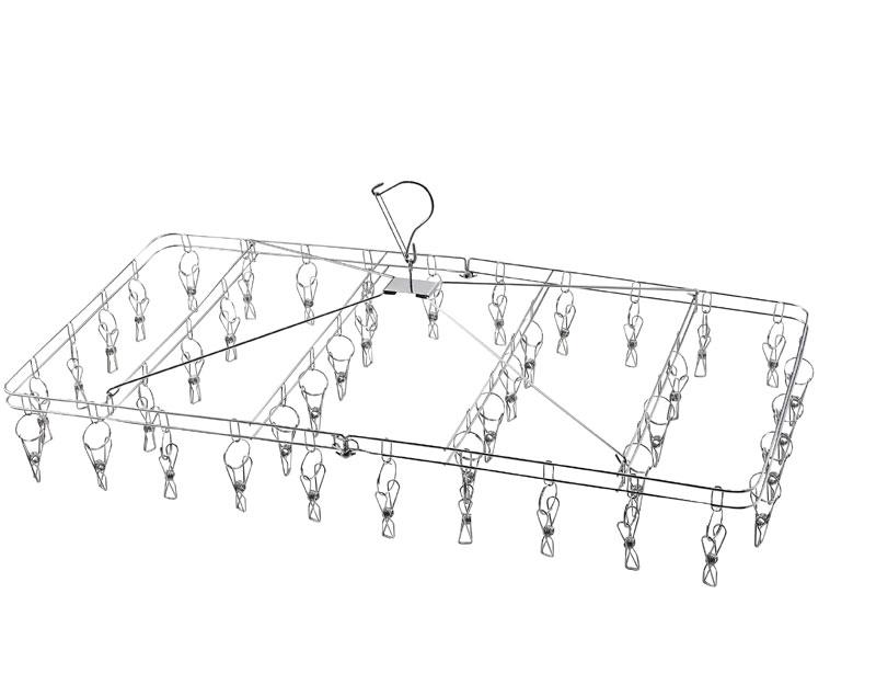 サステイン Sustain ステンレス製折りたたみ式 物干しハンガー 42ピンチ H-8769 [ステンレス製なので丈夫で清潔] 【パール金属】 メイチョー