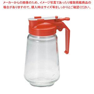 ガラス製 焼肉タレ入 350cc 赤【 調味料入れ 容器 ドレッシングボトル 】 【メイチョー】