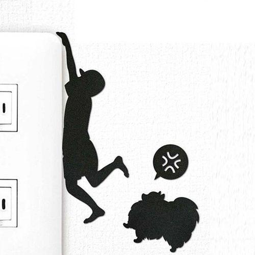 ウォールステッカー 壁紙シール ポメラニアン かみつくぞ DOG LIFE ウォールストーリー【開業プロ】