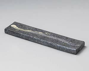 和食器 メ151-047 黒窯変クシ目12.0長角皿(両面使用可) 【メイチョー】