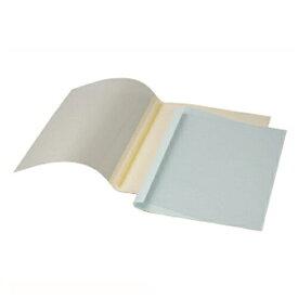 【まとめ買い10個セット品】 GBCサーマバインド 糊付け製本機 表紙カバー10枚入(表紙:透明クリアシート、裏表紙:紙) TCB12A4R ブルー 【メイチョー】