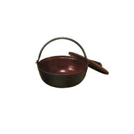 【まとめ買い10個セット品】中部コーポレーション トキワ 鉄 やまが鍋 401(茶ホーロー) 18cm(段無・杓子付)【 いろり鍋 いろり 囲炉裏鍋 やまと鍋 やまが鍋 田舎鍋 味噌汁 】【メイチョー】