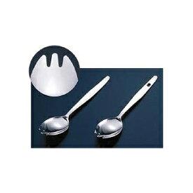 【まとめ買い10個セット品】TKG 18-0先割 面取り給食スプーン 穴明 155mm 【厨房館】