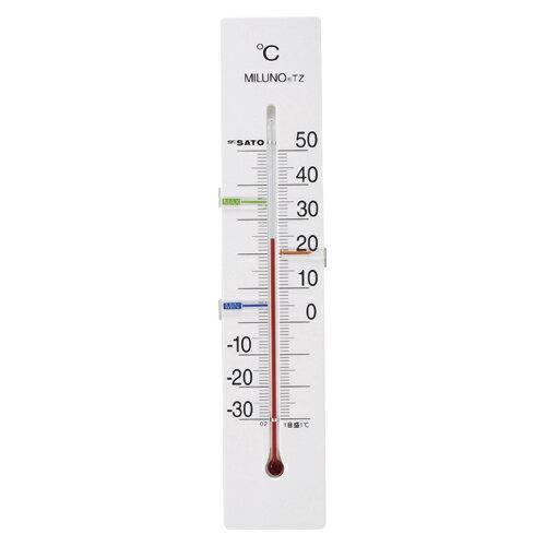 寒暖計ミルノTZ 1514-40 ホワイト 1個 佐藤計量器【 生活用品 家電 セレモニー アメニティ用品 温湿度計 】【厨房館】