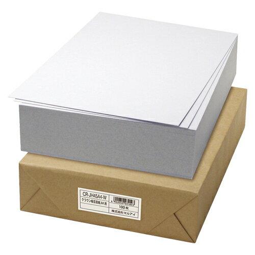 板目表紙 CR-JH45A4-W 100枚 クラウン【 ファイル ケース パンチ式ファイル 板目表紙 】【厨房館】