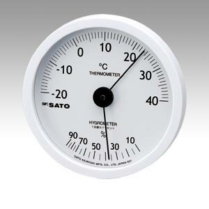 温湿度計 ホワイティ 1022-00 1個 佐藤計量器【 生活用品 家電 セレモニー アメニティ用品 温湿度計 】【厨房館】