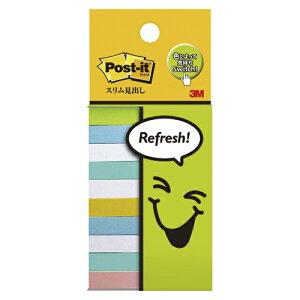 ポスト・イット[R] フレンドリーシリーズ スリム見出し 710-P3 メロン、ビビットイエロー、ピンク各1個、ブルー、ライムエイド各2個、ホワイト3個 混色6色 【厨房館】