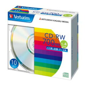 三菱ケミカルメディア PC DATA用 CD-RW 10枚入 SW80QU10V1 【厨房館】