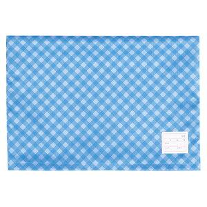 防災ずきん カバー(チェック柄) BZK-102B ブルー 【厨房館】
