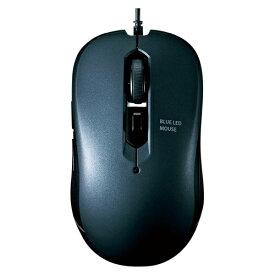 サンワサプライ ブルーLEDマウス 有線 5ボタン MA-BL114GM ガンメタル 【厨房館】