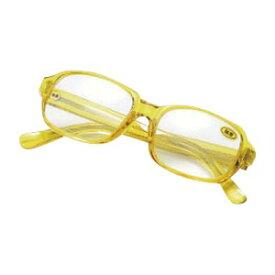 老眼鏡セット 老眼鏡 S-104S 黄 【厨房館】