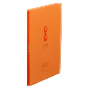 クリアーファイルヒクタス±[R](透明) スティック・タイプ A4判タテ型(20ポケット) 7181T オレンジ 【厨房館】