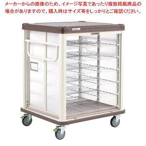 エレクター COO常温配膳車 シャッター式 リフトタイプ JCSL20CB カフェブラウン 【厨房館】カート・台車